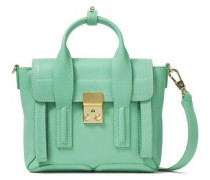 Woman Pashli Mini Leather Shoulder Bag Mint