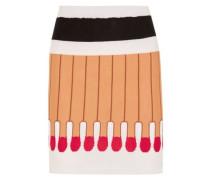 Intarsia wool mini skirt