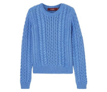 Woman Britta Cable-knit Cotton Sweater Blue