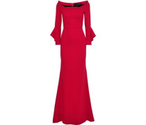 Coleman Fluted Stretch-crepe Gown Red