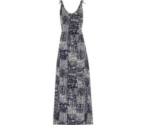 Phoenix tie-dyed crepe de chine maxi dress