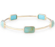 18-karat gold multi-stone bangle