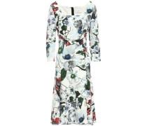 Floral-print Ponte Dress White Size 14