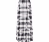 Athena checked twill maxi skirt