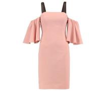Monroe cold-shoulder mesh-trimmed crepe mini dress