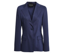 Stretch Wool And Silk-blend Blazer Indigo