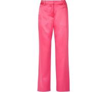 Woman Tatum Satin Straight-leg Pants Bubblegum