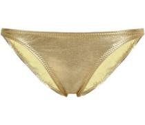 Metallic Low-rise Bikini Briefs Gold