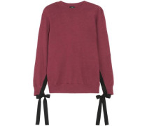Bow-detailed cotton-jersey sweatshirt