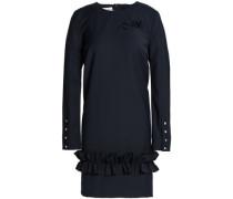 Ruffle-trimmed Crepe Mini Dress Midnight Blue