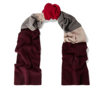 Ama Color-block Cashmere And Wool-blend Scarf Multicolor Size --