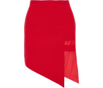 Asymmetric cutout woven mini skirt