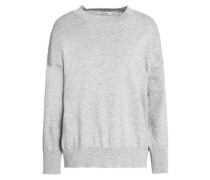 Mélange cotton and cashmere-blend sweater