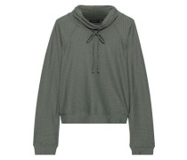 Pump Stretch-mesh Sweatshirt Grey Green