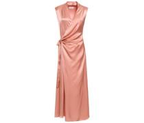 Crepe-satin Maxi Wrap Dress Antique Rose