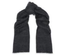 Frayed mohair-blend scarf