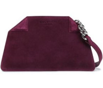 Suede Shoulder Bag Grape Size --