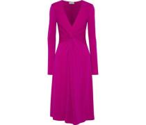 Xenias Twist-front Stretch-crepe Dress Violet