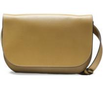 Woman Textured-leather Shoulder Bag Sage Green