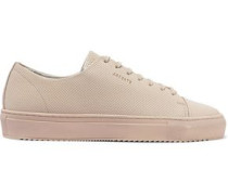 Perforated Leather Sneakers Beige