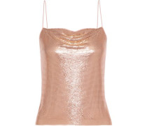 Woman Harmon Draped Chainmail Camisole Rose Gold