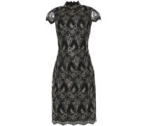 Metallic Corded Lace Dress Black Size 0