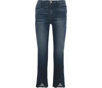 Woman Le High Straight Cropped High-rise Straight-leg Jeans Dark Denim