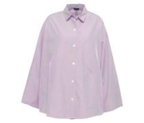 Sino Oversized Striped Cotton-poplin Shirt Lavender
