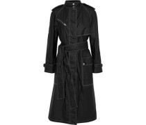 Coated Cotton-shell Trench Coat Black