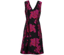 Floral-jacquard Dress Magenta