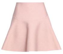 Baya flared textured-crepe mini skirt