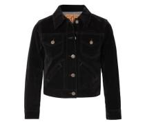 Cropped Velvet Jacket Black