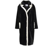 Woman Marianne Two-tone Faux Fur Coat Black