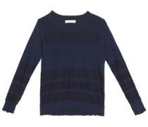 Vera mesh-paneled stretch-knit sweater