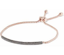 Fiji 18-karat rose gold-plated sterling silver diamond bracelet