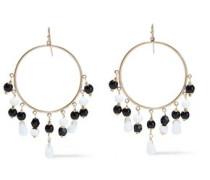 22-karat Gold-plated Bead Earrings Black Size --