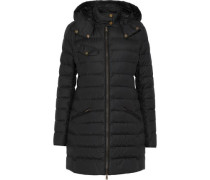 Melcombe Quilted Cotton-blend Shell Hooded Down Coat Black