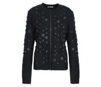 Sequin-embellished Wool-blend Jacket Black