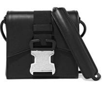 Bonnie Crystal-embellished Leather Shoulder Bag Black Size --