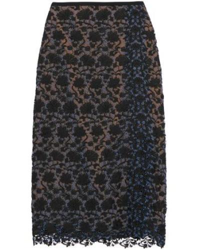 Sarah guipure lace midi skirt