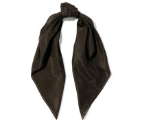 Cotton And Silk-blend Scarf Dark Brown Size --