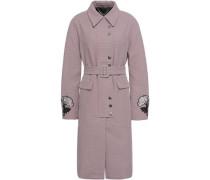 Appliquéd Jacquard Coat Claret