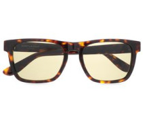 D-frame Tortoiseshell Acetate Sunglasses Brown Size --