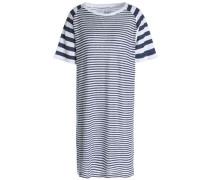 Striped Linen-jersey Mini Dress White