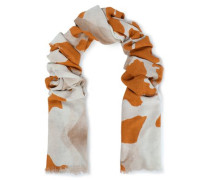 Printed Twill Scarf Orange Size --