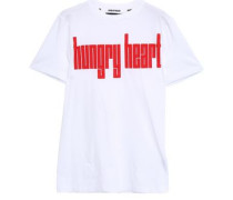 Printed Cotton-jersey T-shirt White