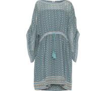 Silk Crepe De Chine Dress Teal