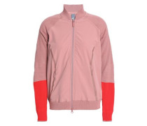 Cutout Two-tone Shell Jacket Antique Rose
