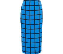 Printed cady midi pencil skirt