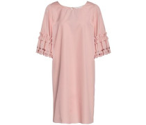 Ruffle-trimmed Broderie Anglaise Cotton-poplin Mini Dress Blush